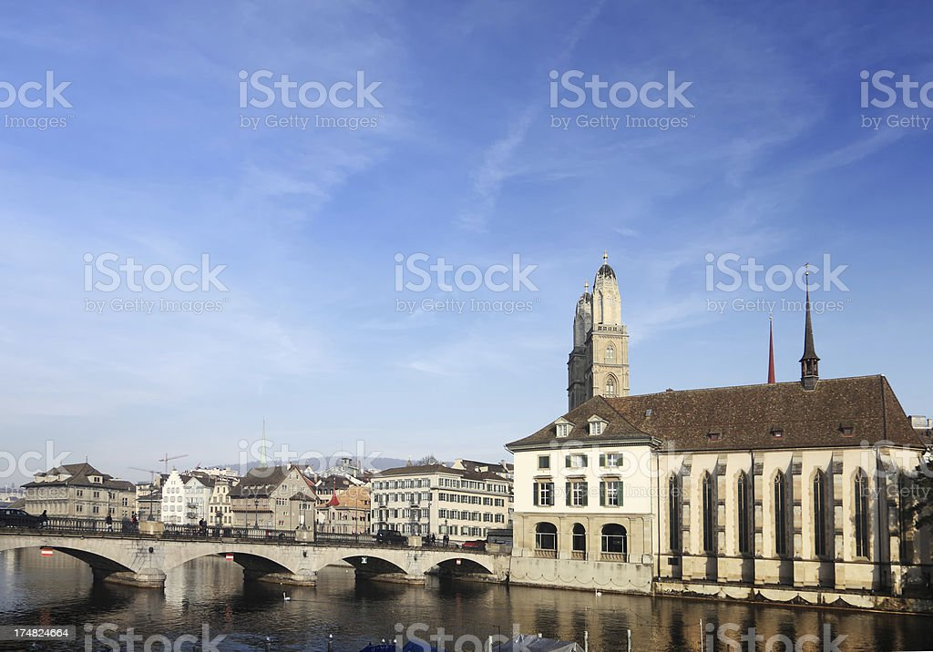 Limmat River, Zurich royalty-free stock photo