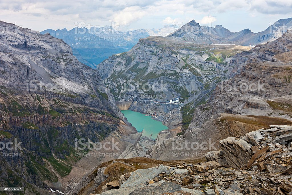 Limmernsee Dam Project stock photo