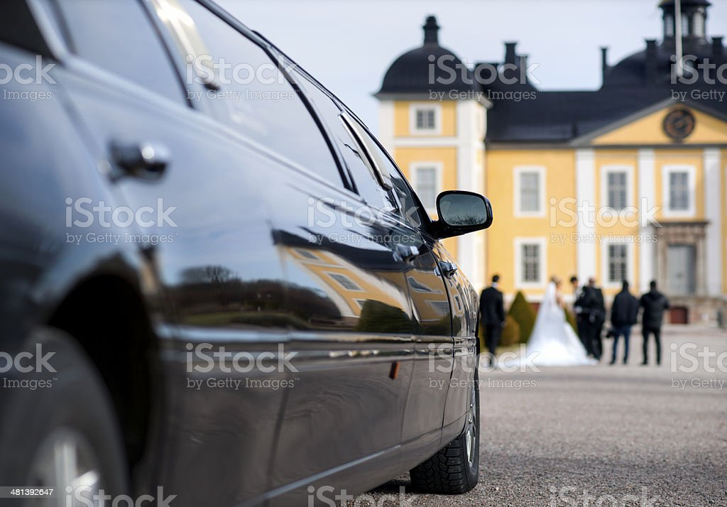 Limo at weeding stock photo