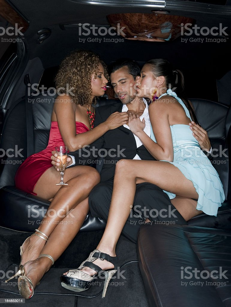 Limo Party royalty-free stock photo