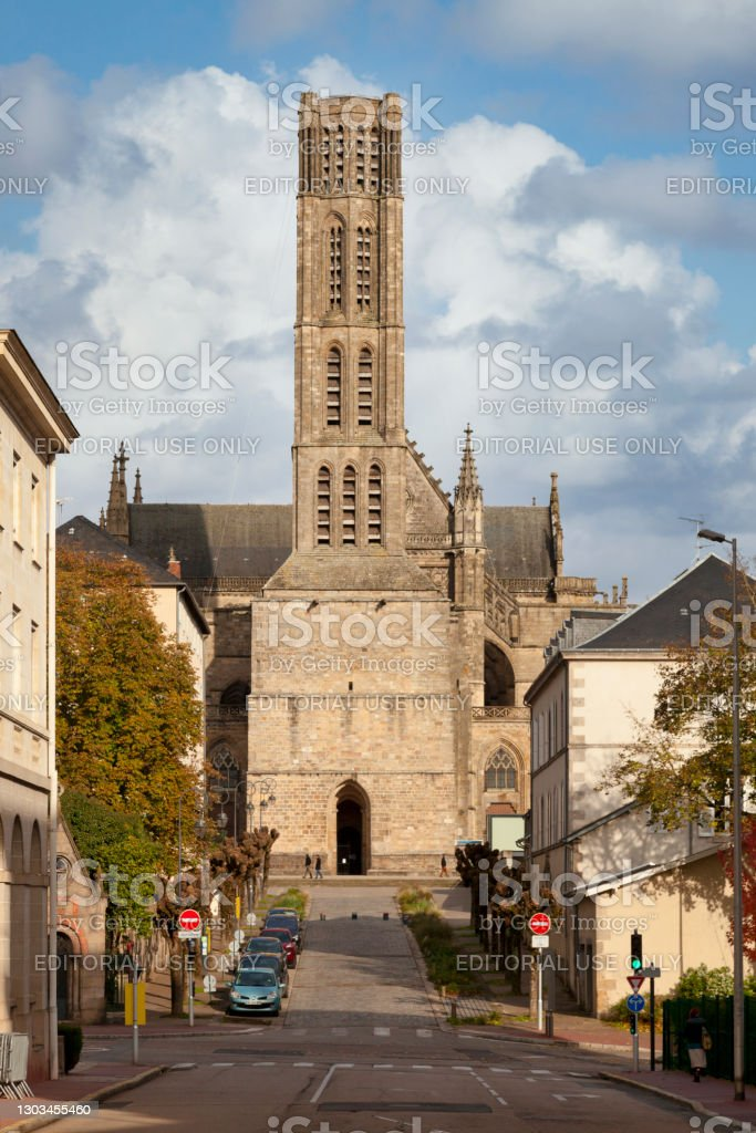 Limoges Cathedral Limoges, France - November 09 2019: Limoges Cathedral (French: Cathédrale Saint-Étienne de Limoges) is a Roman Catholic church located in Limoges, France. Architecture Stock Photo
