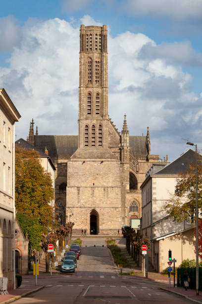 Limoges Cathedral stock photo