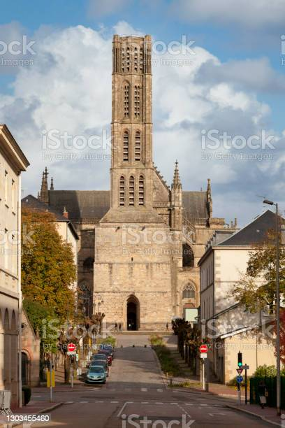 Limoges Cathedral Stock Photo - Download Image Now