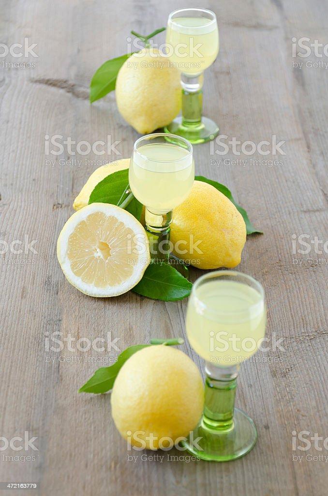 Limoncello-Lemon Liqueur stock photo