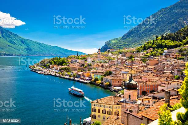 Photo of Limone sul Garda waterfront view, Lombardy region of Italy