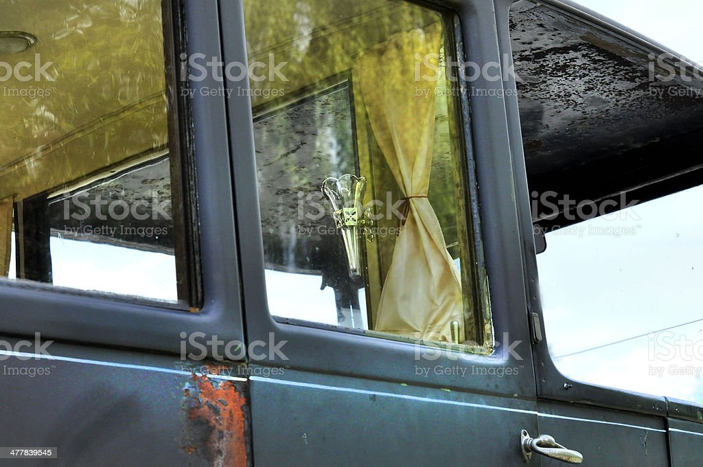 Limousine Car Distressed Window Door - Texture royalty-free stock photo