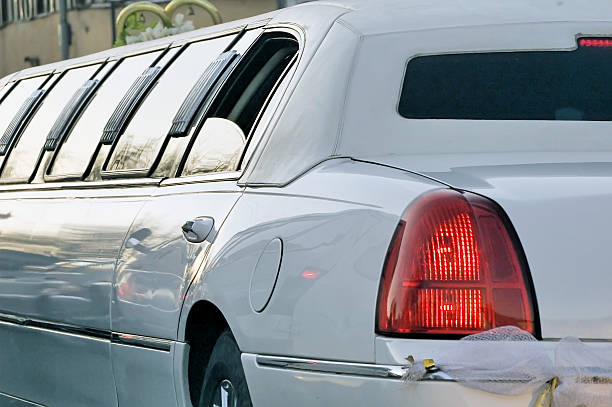 limousine for wedding - limousine service stock photos and pictures