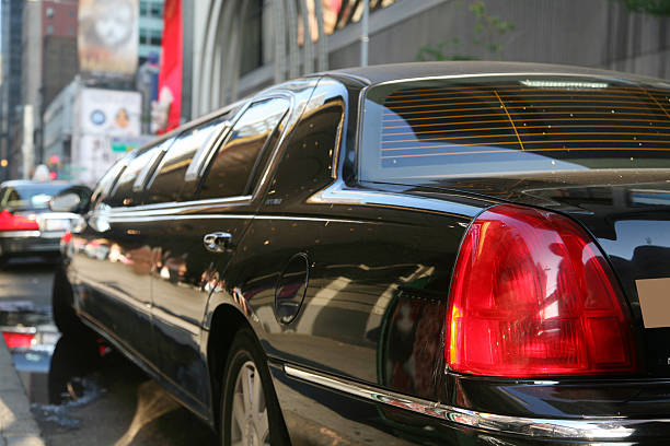 Limousine On Street, Close-Up stock photo