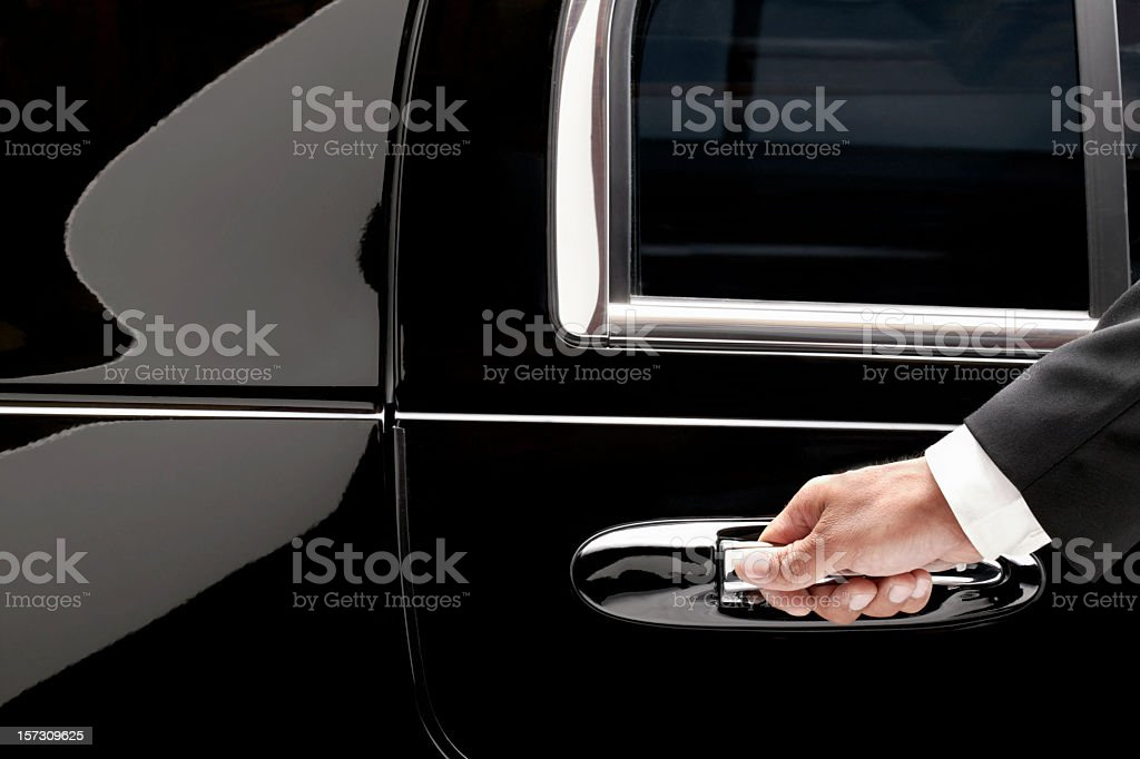 Limousine service stock photo