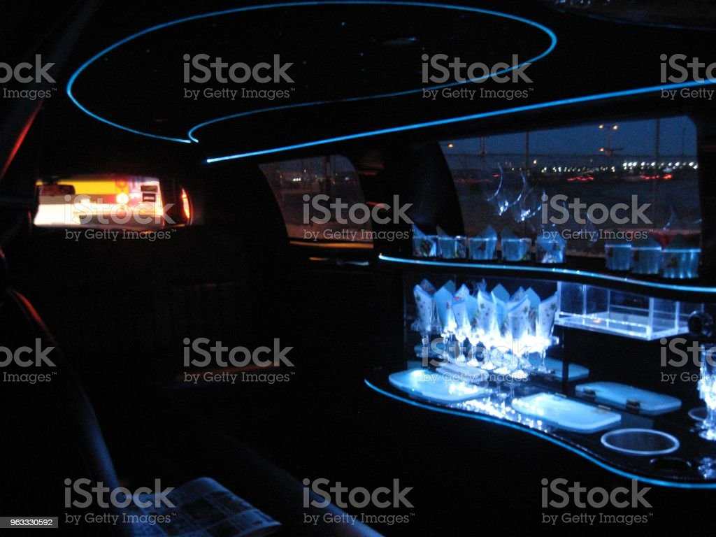 Limousine with Bar Ready for Riders stock photo