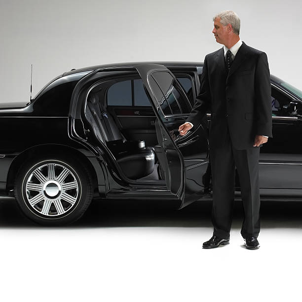 limousine with driver - limousine service stock photos and pictures
