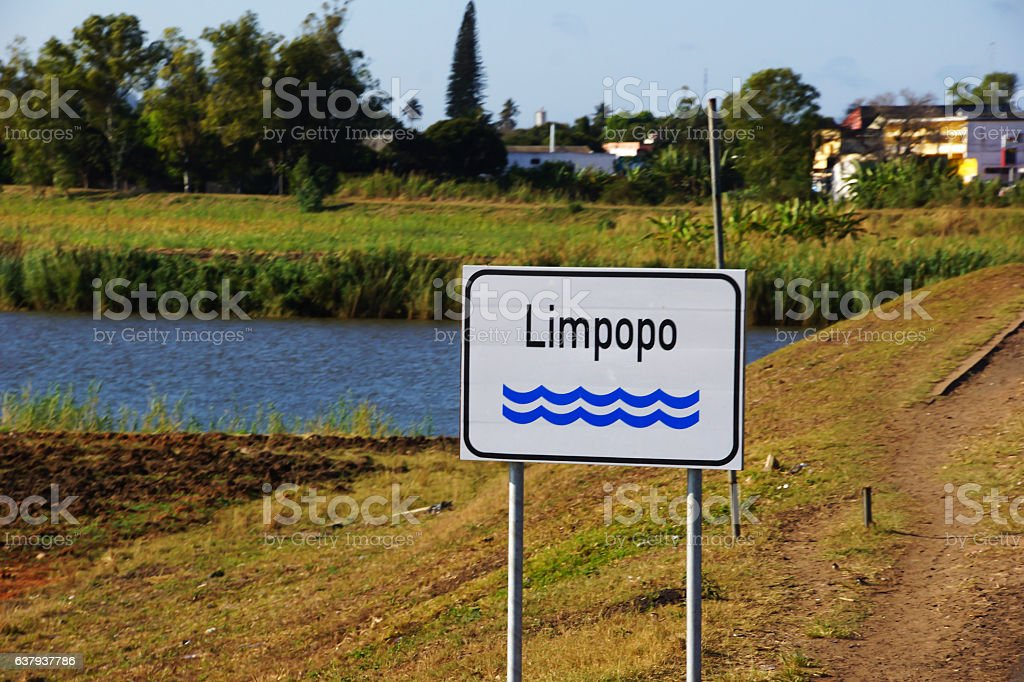 Limpopo river in Mozambique stock photo