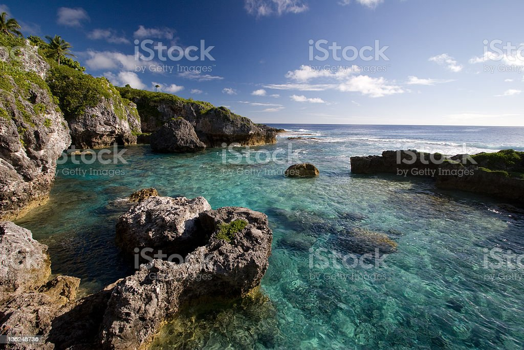 Limu pools in Niue, a coral atoll in the South Pacific stock photo