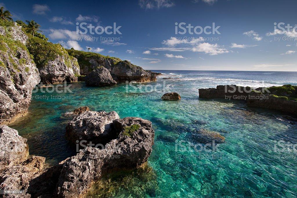 Limu Pools in Niue stock photo