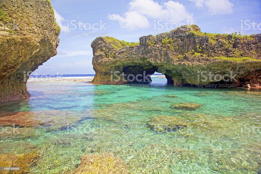 Limu pools, Niue. stock photo