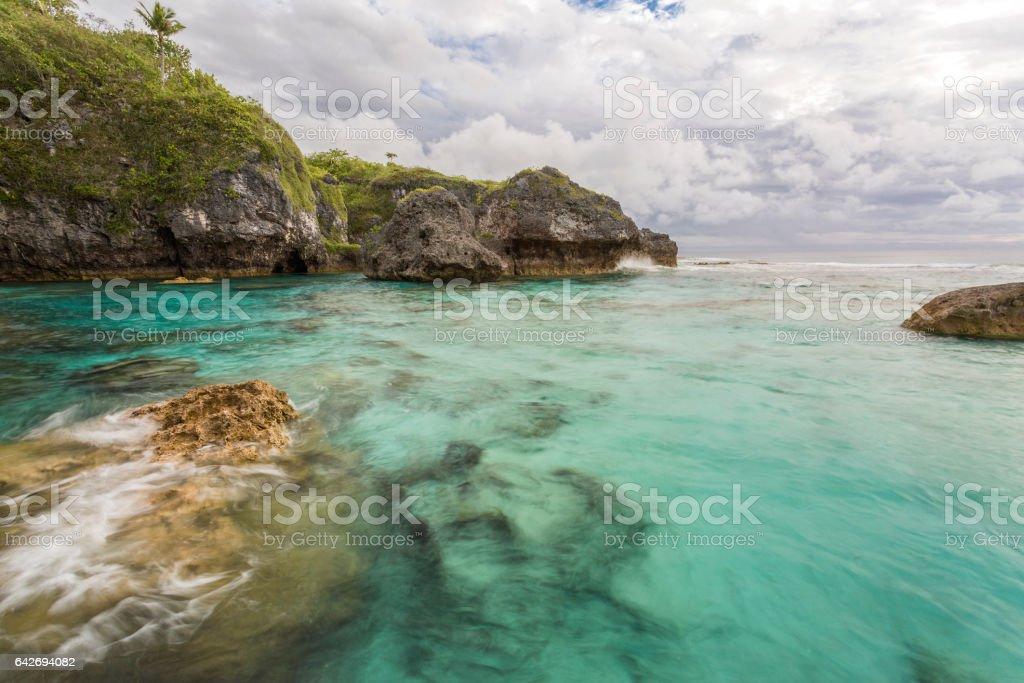 Limu Pools, Niue stock photo