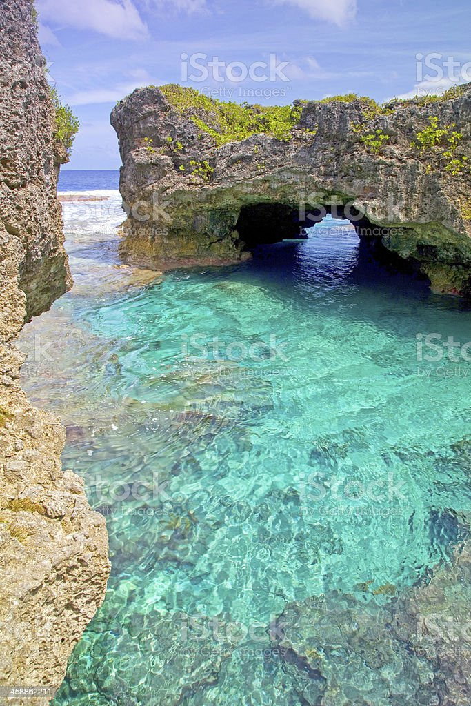 Limu pools, Niue, South Pacific. stock photo