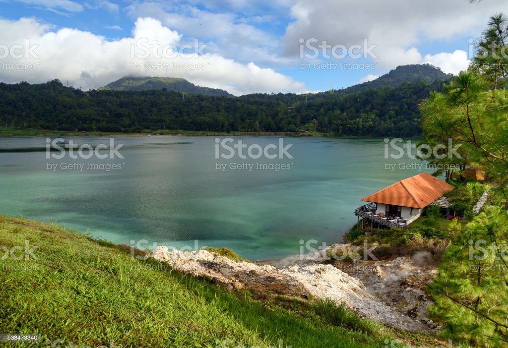 Linau lake in Tomohon stock photo