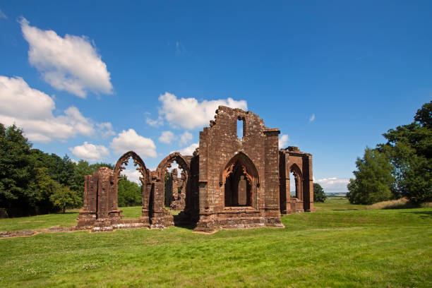 Lincluden, Dumfries,  Dumfries and Galloway, Scotland - July 18, 2013: Lincluden Collegiate Church stock photo