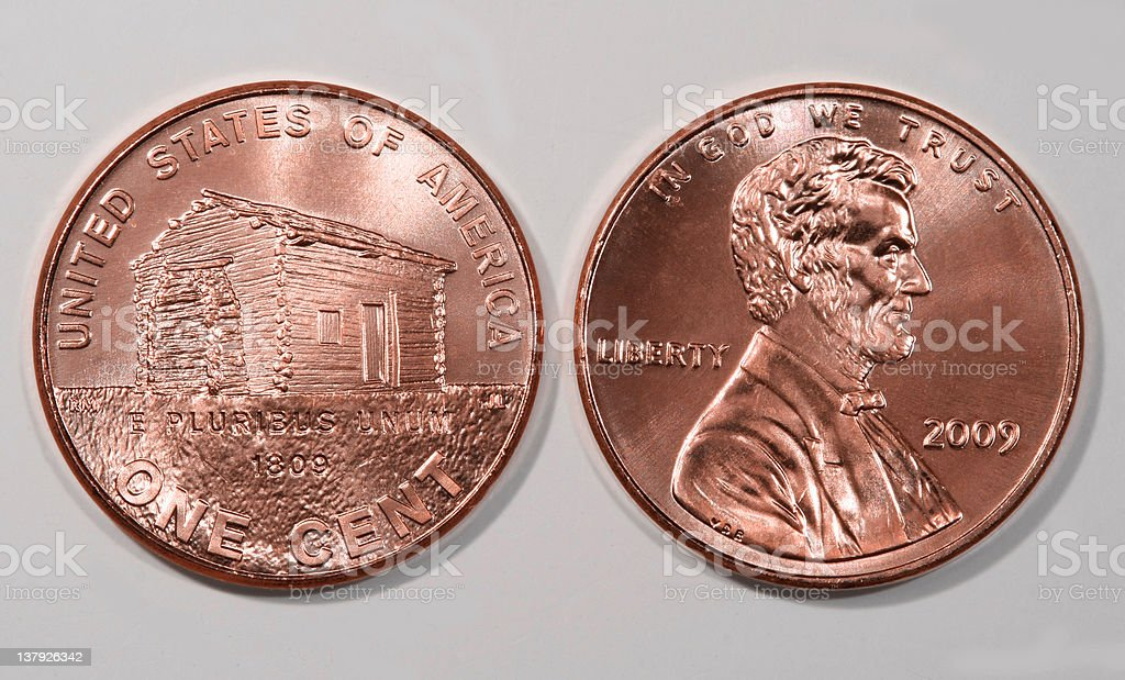 Lincoln 2009 bicentennial penny stock photo