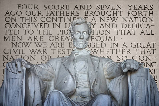Lincoln and Gettysburg Address stock photo