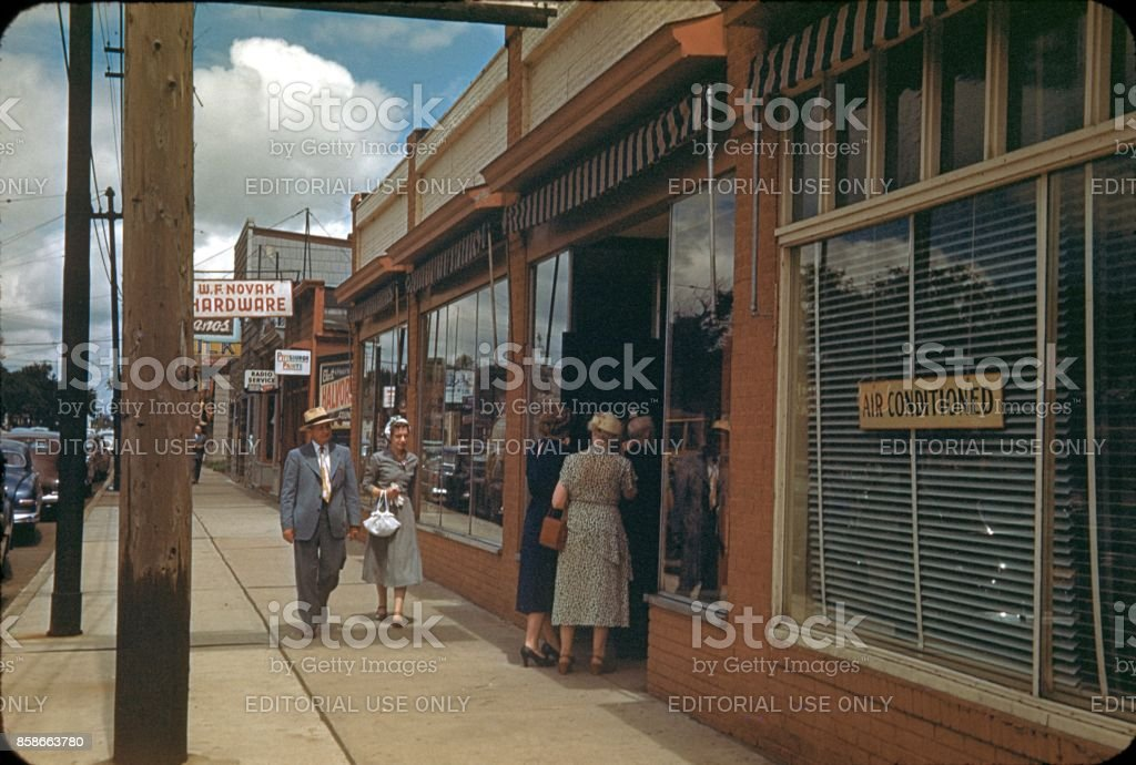 Lincoln Boulevard, Los Angeles, 1953 stock photo