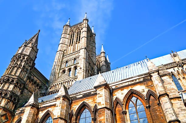 lincoln cathedral and towers - 林肯郡 個照片及圖片檔