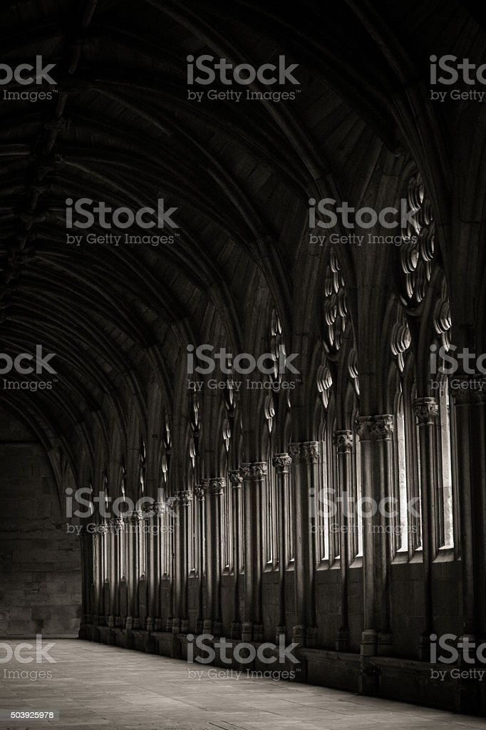 Lincoln Cathedral Cloister stock photo