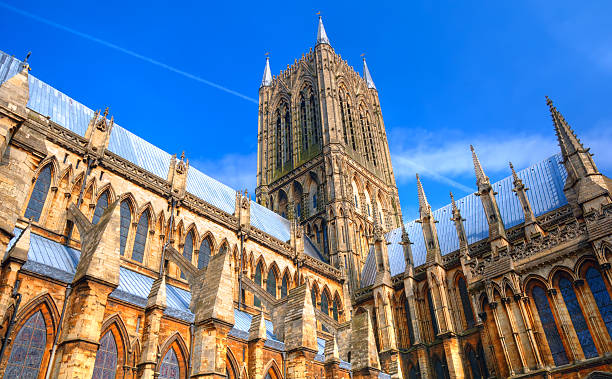 lincoln cathedral, england - 林肯郡 個照片及圖片檔
