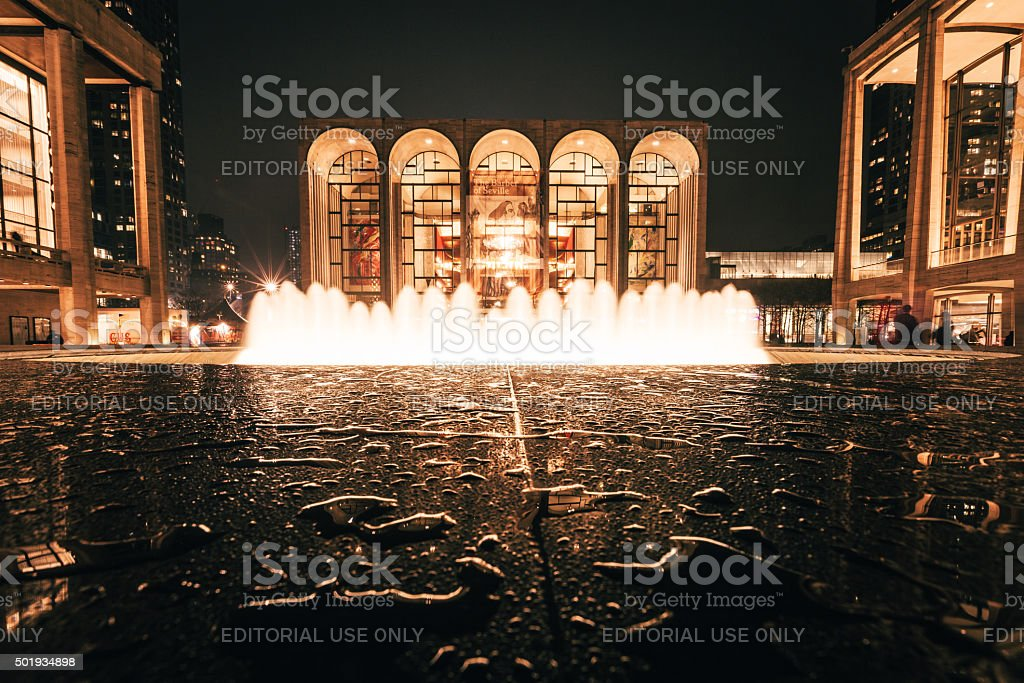 Lincoln Center and its fountain stock photo