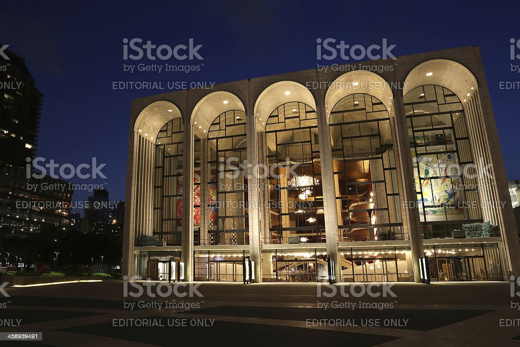 Lincoln Center for the Performing Arts at Night stock photo
