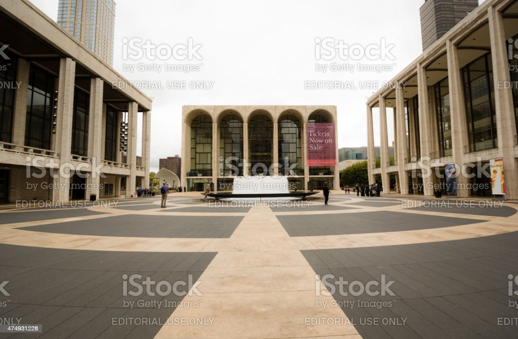Lincoln Center in Manhattan of New York City stock photo
