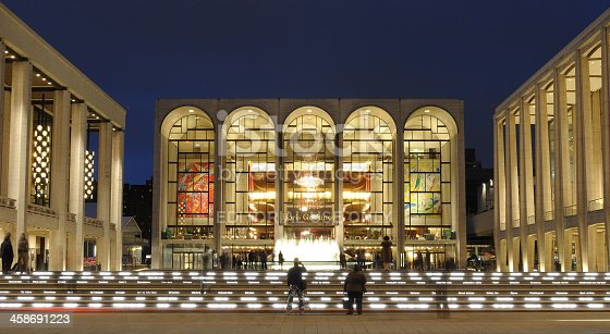 New York City, USA - October 23, 2010: Lincoln Center for the Performing Arts on the Upper West Side of Manhattan. The various performance facilities on the 16 acre complex have hosted numerous world class acts.
