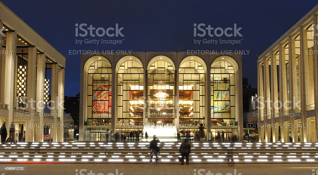 Lincoln Center in New York City stock photo