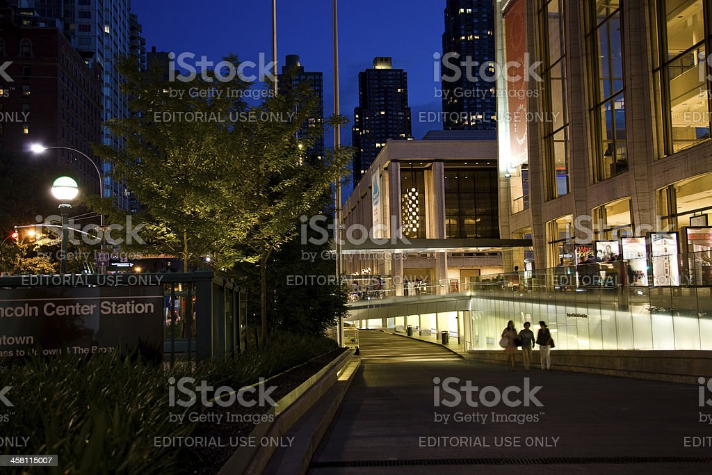 Lincoln Center in NYC stock photo