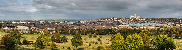 lincoln city panorama - 林肯郡 個照片及圖片檔