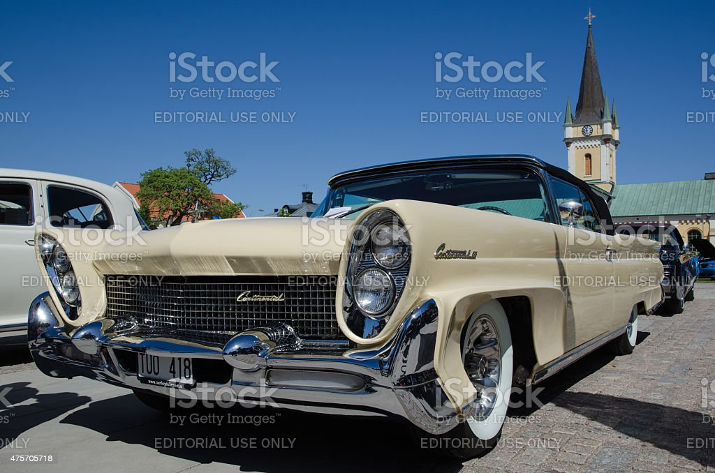 Lincoln Continental 1958 old timer car stock photo