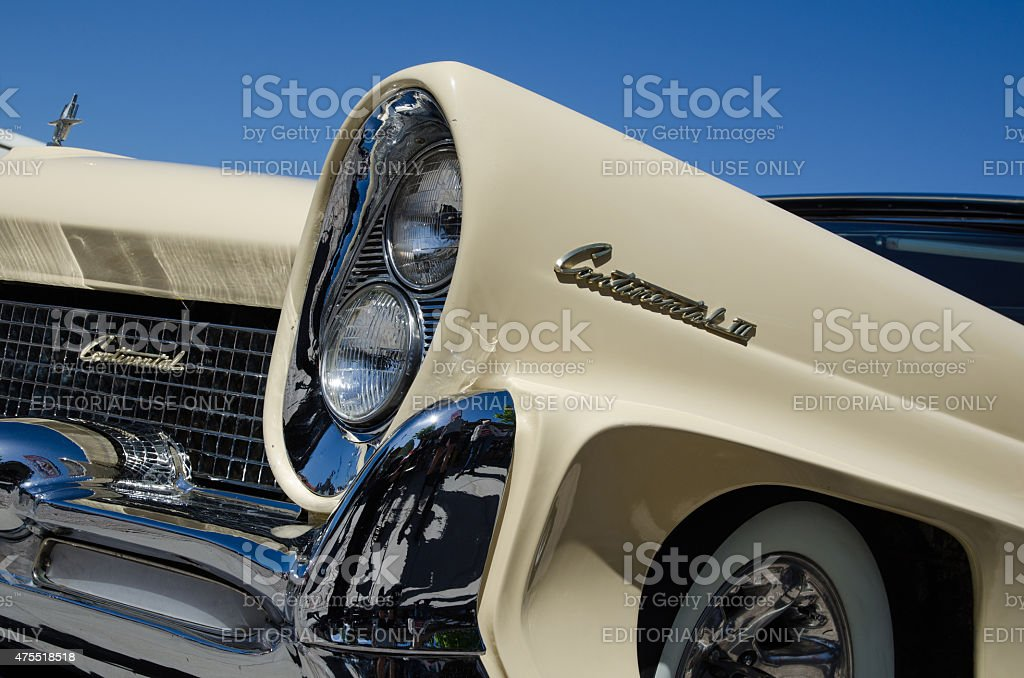 Lincoln Continental 1958 old timer stock photo
