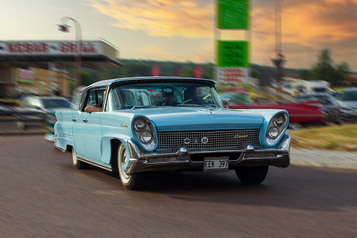 Rattvik, Sweden - July 27.2013: Classic Car Week Rttvik - 1959 Lincoln Continental Landau
