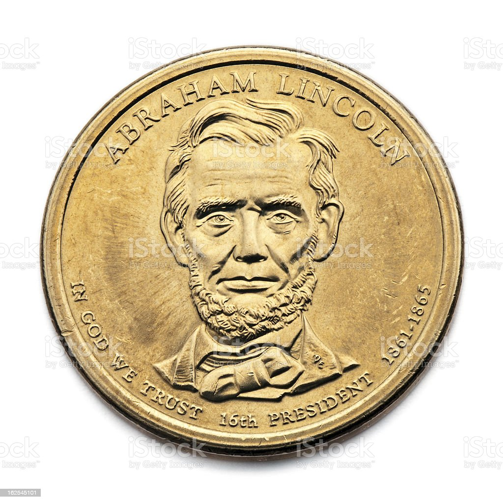 Lincoln Dollar 2010 stock photo