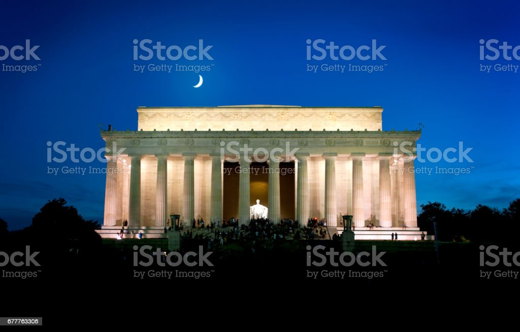 Lincoln Memorial at Night royalty-free stock photo