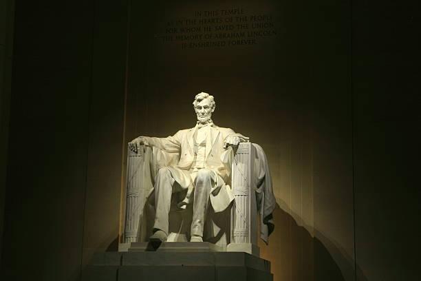 Lincoln Memorial At Night stock photo