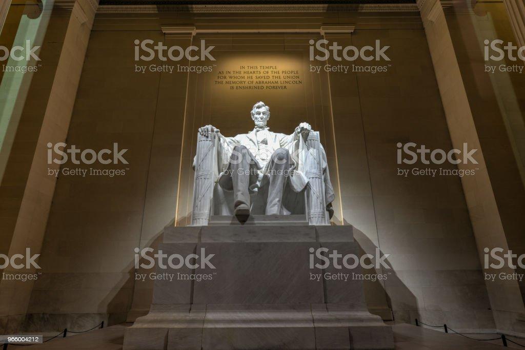 Lincoln Memorial at night - Royalty-free Abraham Lincoln Stock Photo