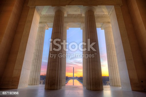 Lincoln Memorial at sunrise
