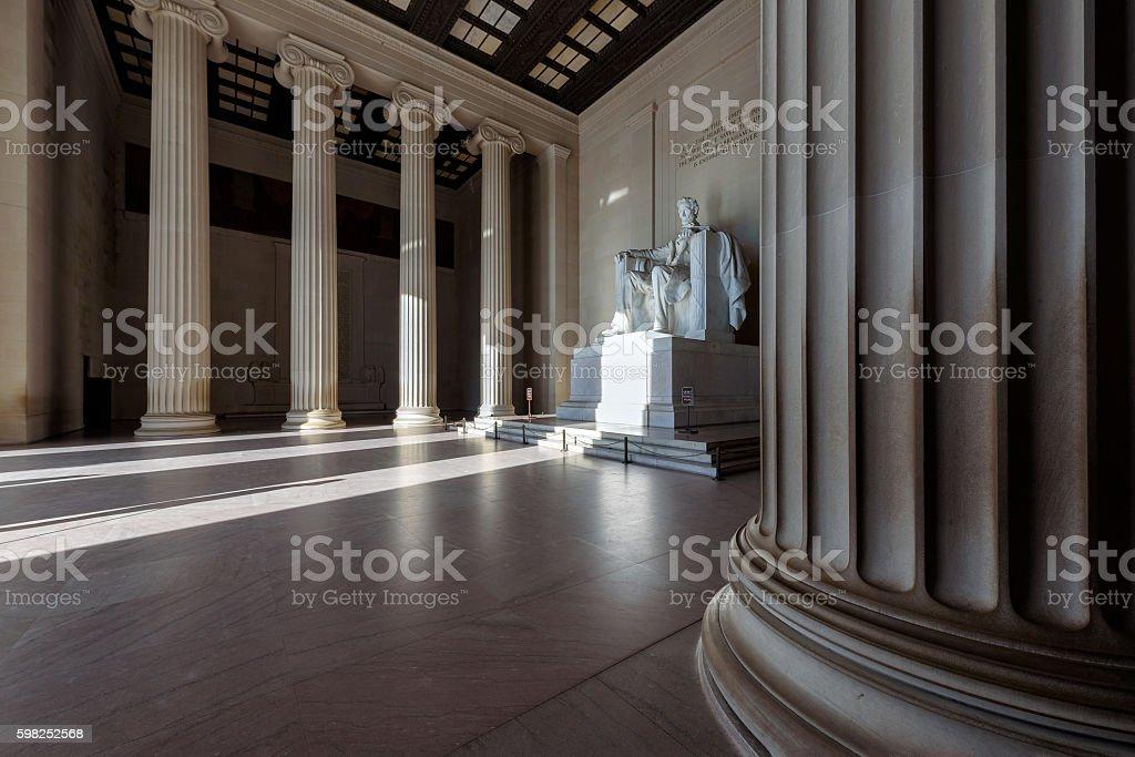 Lincoln Memorial at sunrise, Washington DC stock photo