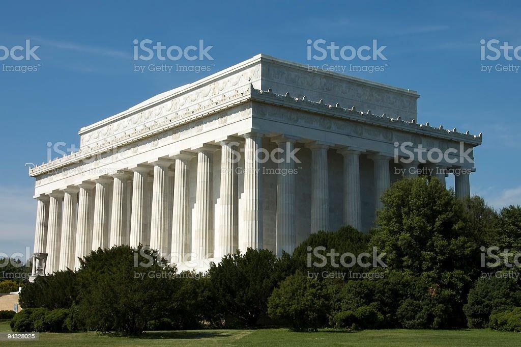 Lincoln memorial building stock photo