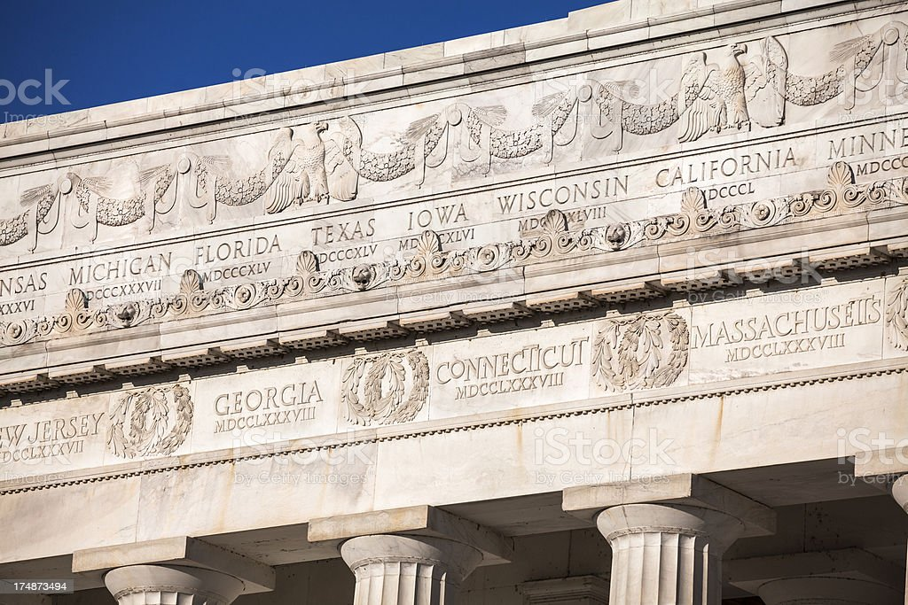 Lincoln Memorial detail royalty-free stock photo