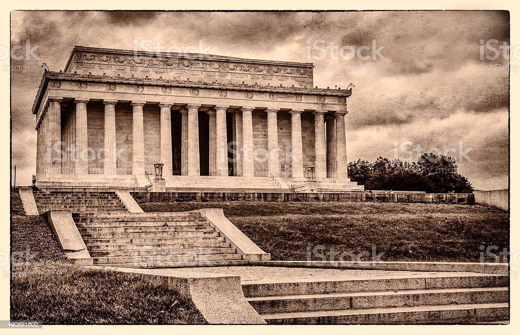 Lincoln Memorial in Washington DC - Historic Postcard stock photo