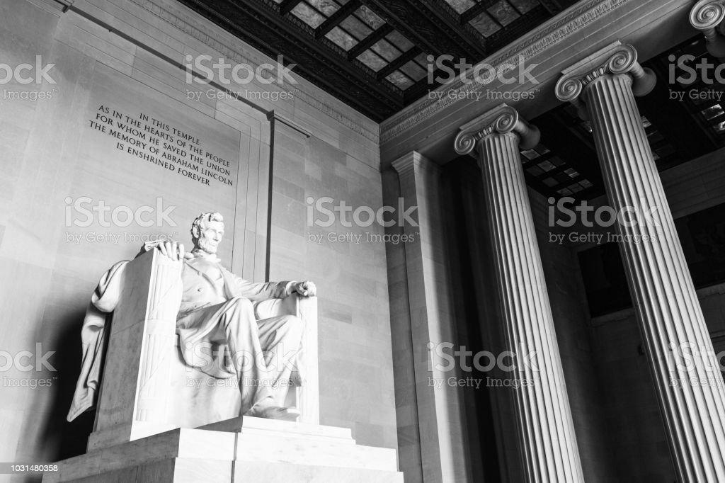 Lincoln Memorial in Washington DC royalty-free stock photo