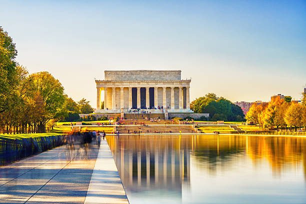 Lincoln memorial in Washington, DC - foto de stock